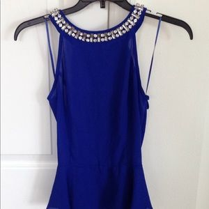 Royal blue bling top